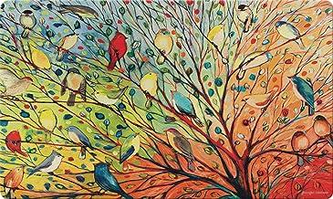 Toland Home Garden Tree Birds 18 x 30 Inch Decorative Floor Mat Colorful Bird Branch Collage Doormat - 800038