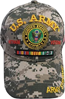 US Army Vietnam Veteran US Flag Bill Official Licensed Military Baseball Cap