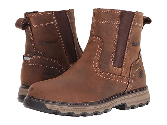 Caterpillar  Pelton (Dark Beige) Mens Work Pull-on Boots