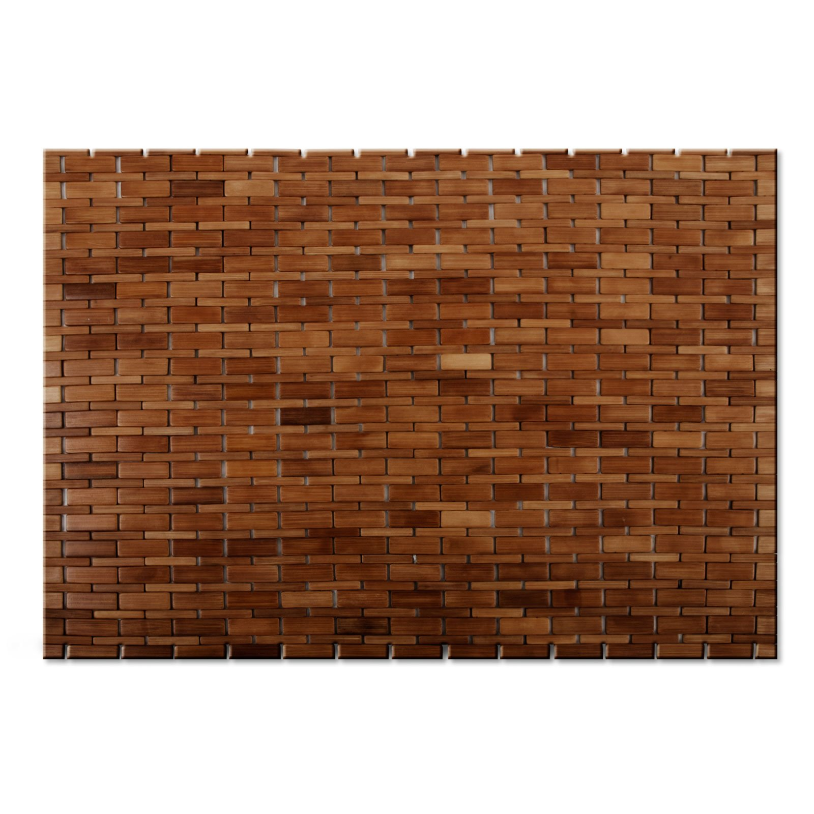 casa pura Luxury Bamboo Bath Mat 2 Colors Available by casa pura Natural 2ft x 3ft 60 x 90 cm | Bathroom /& Sauna Mat