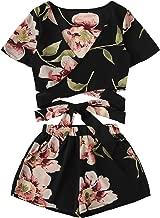 black floral romper outfit