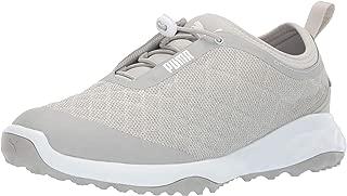 PUMA 女士 Brea Fusion 运动高尔夫鞋 灰色紫罗兰 白色 7