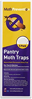 Powerful Pantry Moth Trap 5-Pack | Pantry Moth Killer Traps by MothPrevention | Odor-Free & Natural | Best Catch-Rate for Kitchen Moths on The Market! - Results Guaranteed