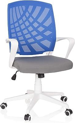 hjh OFFICE 621977 silla de escritorio SPRING tela azul / gris silla giratoria de diseño armazón