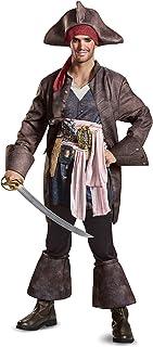 Disney Men's Plus Size Potc5 Captain Jack Sparrow Deluxe Adult Costume, Brown, XX-Large (US)