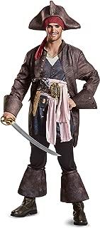 Men's Plus Size POTC5 Captain Jack Sparrow Deluxe, Brown, Size X-Large