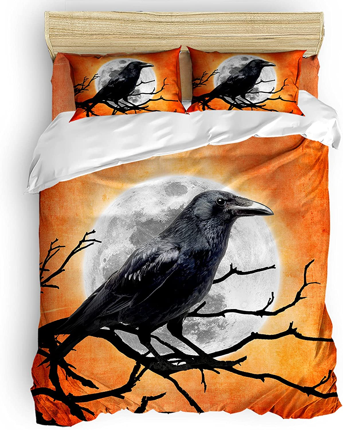 BABE MAPS Halloween Duvet Covers Twin 4 Breathable Super intense SALE Pieces Memphis Mall M Size