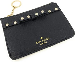 Kate Spade New York Bitsy Leather Card Case Key Chain Ring Wallet