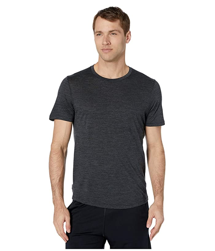 Icebreaker  Sphere S/S (Black Heather 2) Mens Short Sleeve Pullover