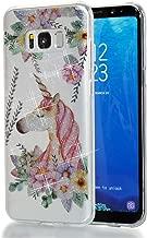 Galaxy S8 Plus Case,Slim Soft TPU High Transparent Flash Powder MID Phone Cover for Samsung Galaxy S8+ S8Plus G9550 G955u G955w G955f G955 G955n Shock-Absorption Bumper Anti-Scratch Clear Back Unicorn