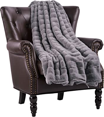 """Home Soft Things Supermink Throw Blanket 50"""" x 60"""" Silver Grey"""
