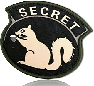 Special Ops Operations Military Morale Agent Spy Secretive Secret Squirrel Bold All Cap Caps Capitol Font Hook & Loop Fastener Patch [10 Pack - 2.5