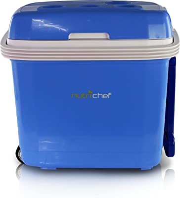 NutriChef AZPKTCEC32SL Food Warmer, 8.82 pounds, Blue