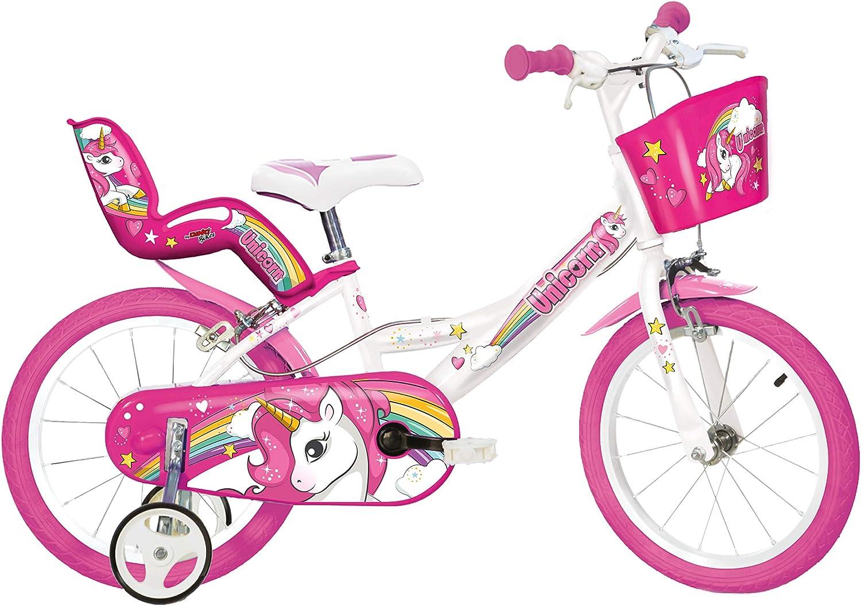 Einhorn Kinderfahrrad Unicorn Mdchenfahrrad – 16 Zoll  Original   Kinderrad Mit Stützrdern, Puppensitz Und Fahrradkorb - Das Einhorn Fahrrad Als Geschenk Für Mdchen