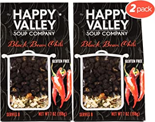 Happy Valley Black Bean Chili Soup - Dried Soup Mix | A Hit with Chili Lovers | Gluten Free | Serves 8 (2-Pack)
