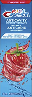 Crest Kid's Anticavity Cavity Protection Fluoride Toothpaste, Strawberry Rush, 1 Count