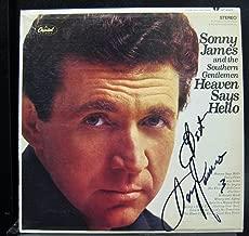 Sonny James - Heaven Says Hello (Autographed) - Lp Vinyl Record
