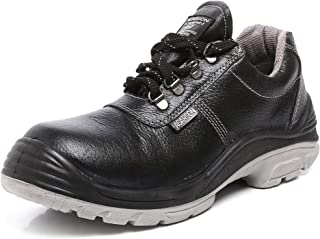 Agarson High Quality ISI Mark Genuine Leather Steel Toe Dual Density PU Moulded Engineers/Labours Safety Shoes; DUSTER ISI