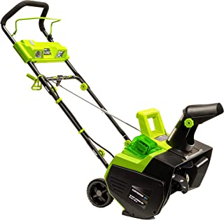Earthwise SN74022 22-Inch 40-Volt Cordless Electric Snow Thrower, 4.0AH Battery &..
