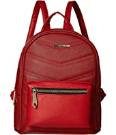 Chevron Quilted Midi Backpack