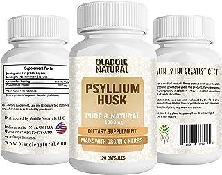 Oladole Natural Psyllium Husk 1000 mg Made with Organic Herbs 120 Capsules