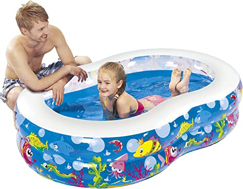 2021 Jilong sale Figure 8 Pool - Large Children's Pool with Fun popular Sea Animals Print, for Children from 6 Years, 175X109 cm outlet online sale