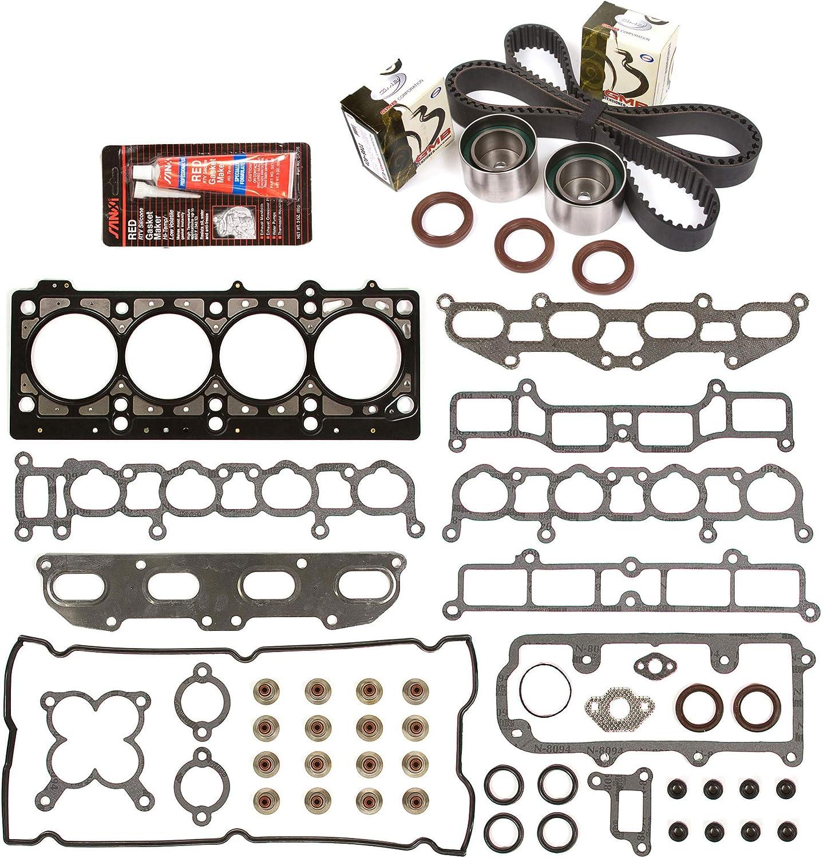 Evergreen HSTBK5020 Charlotte Mall Head Gasket Very popular Set w Timing Compatible Belt Kit