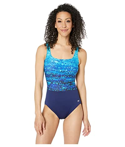 TYR Scoop Neck Control Fit One-Piece (Artic) Women