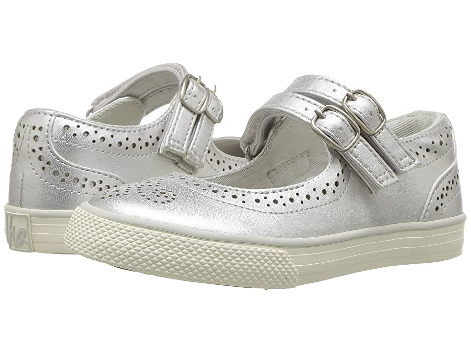 Hanna Andersson Adele (Toddler/Little Kid/Big Kid) (Silver) Girls Shoes