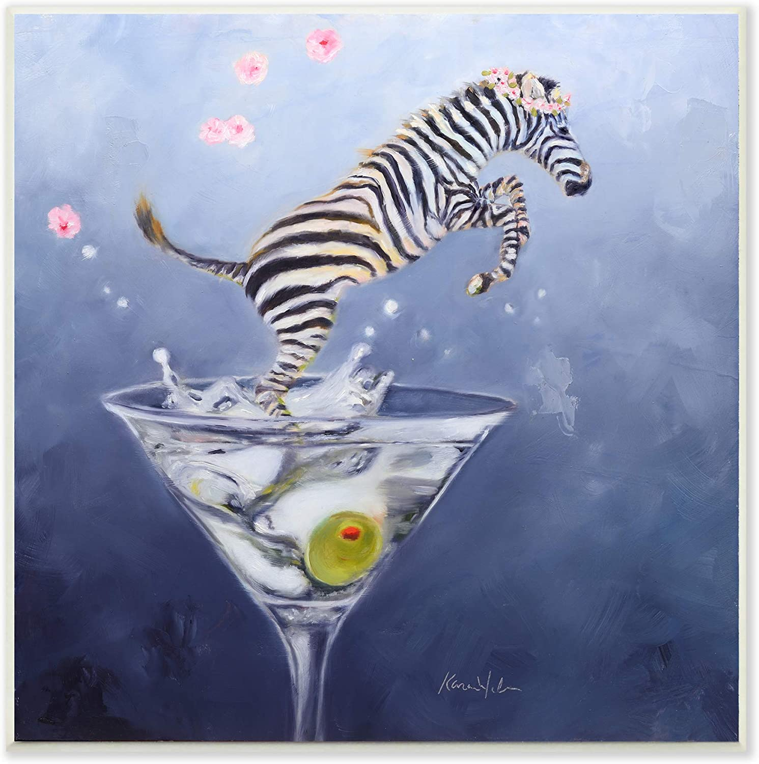 Stupell Industries Zebra Leaping from Max 47% OFF Glass Max 47% OFF Desig Olive Martini