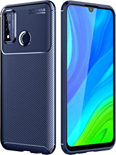 Beovtk Huawei P Smart 2020 Case, Silicone Leather[Slim Thin] Flexible TPU Protective Case Shock Absorption Carbon Fiber Co...