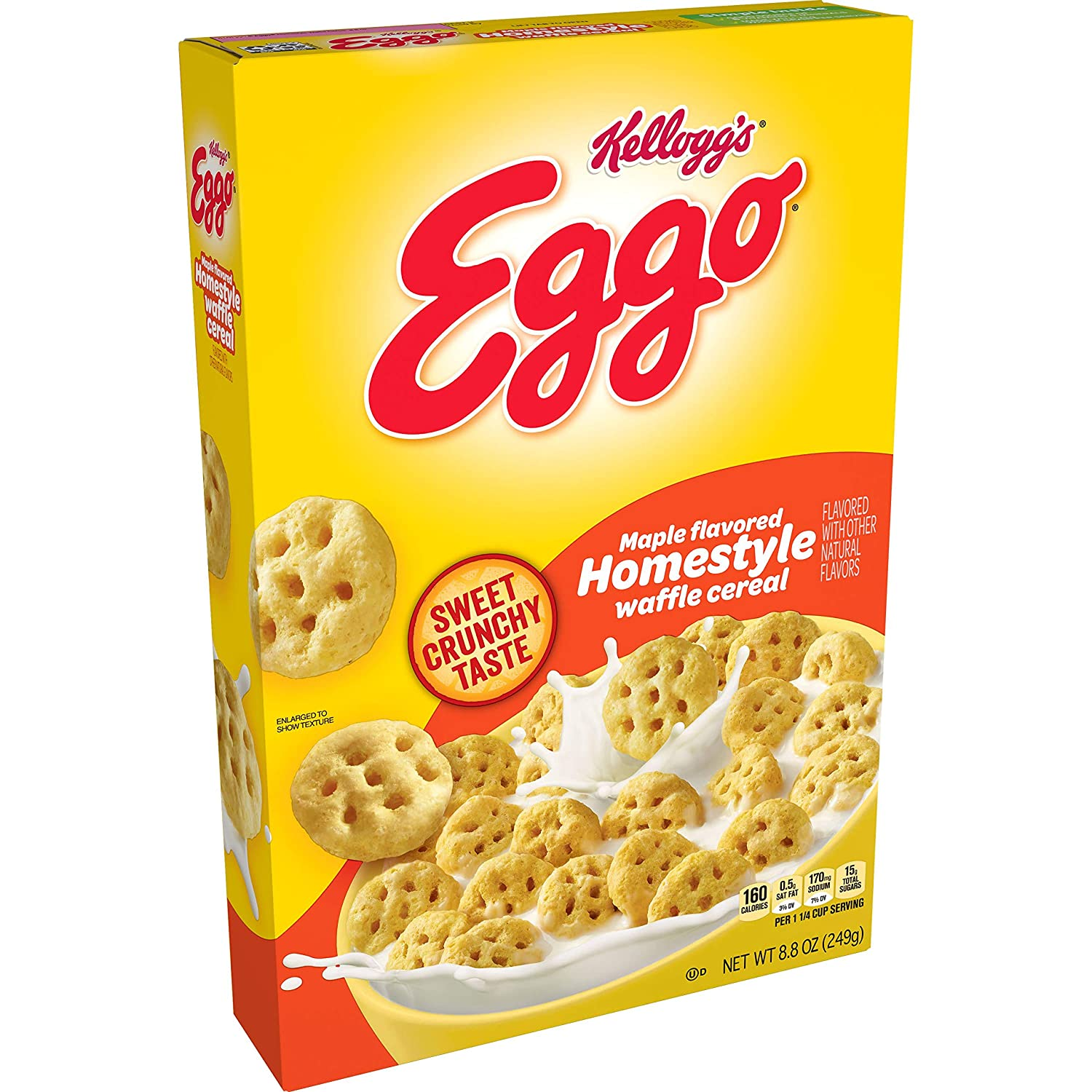 Kellogg's Eggo Breakfast Cereal Max 41% OFF Homestyle Max 73% OFF Flavored Waffl Maple
