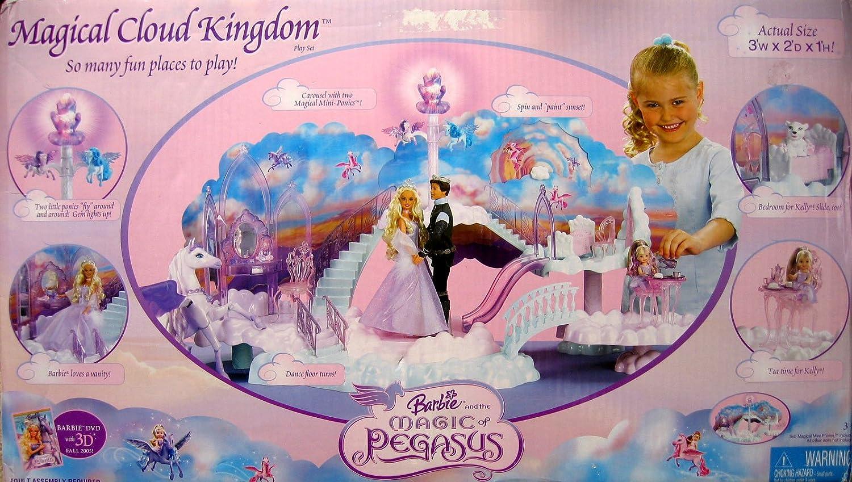 Tienda de moda y compras online. BARBIE and The MAGIC of PEGASUS Magical Cloud Cloud Cloud KINGDOM 20+ Pieces Jugar SET w Flying PONIES & LIGHTS (2005) by Barbie  clásico atemporal