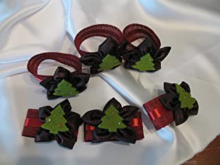 Set 6 pezzi Anelli portatovaglioli Natalizi