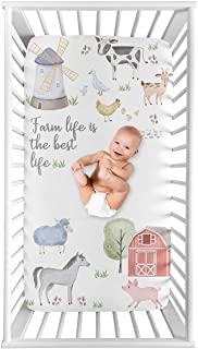 Sweet Jojo Designs Farm Animals Boy or Girl Fitted Crib Sheet Baby or Toddler Bed Nursery Photo Op - Watercolor Farmhouse ...