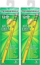 My First Ticonderoga Primary Size #2 Beginner Pencils, 2 Boxes of 12, Yellow (33312)