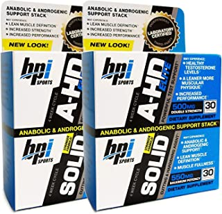 BPI Sports A-HD Elite/Solid Combo 60 Count [2 Pack]