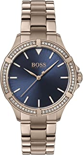 Hugo Boss Womens Quartz Watch, Analog Display and Stainless Steel Strap 1502468