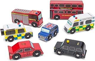 Le Toy Van - Ikoniskt trä London tema leksak bil lekset – set i 7 delar | Spelfordon rollspel leksaker – lämplig för 2 år ...