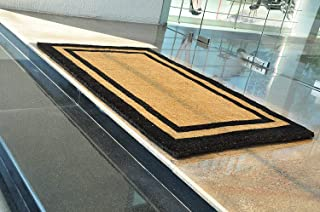 Kempf Natural Coco Coir Outdoor doormats with Black Border Keep Your House/Office Clean - Welcome Guests with Outdoor Heavy Duty Doormats 24