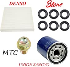 Tune Up Kit Cabin Air Oil Filters Plug Tube Seals for Honda Accord L4; 2.4L 2008-2012