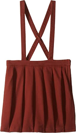 Pleated Twill Suspender Skirt (Toddler/Little Kids/Big Kids)