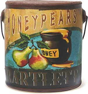 A Cheerful Giver Honey Pear Fresh Farm Candle, 20 oz, Yellow, 10.49 x 10.49 x 11.43 cm