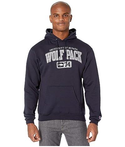 Champion College Nevada Wolf Pack Powerblend(r) Fleece Hoodie (Navy) Men