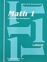Saxon Math 1: An Incremental Development Home Study Meeting Book
