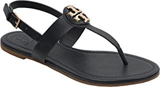 Bryce Flat Thong Sandal Veg Leather (9, Black)