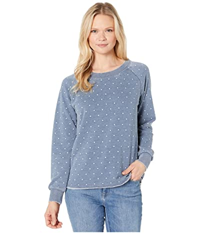 Alternative Burnout French Terry Lazy Day Pullover (Bay Blue Pindot) Women