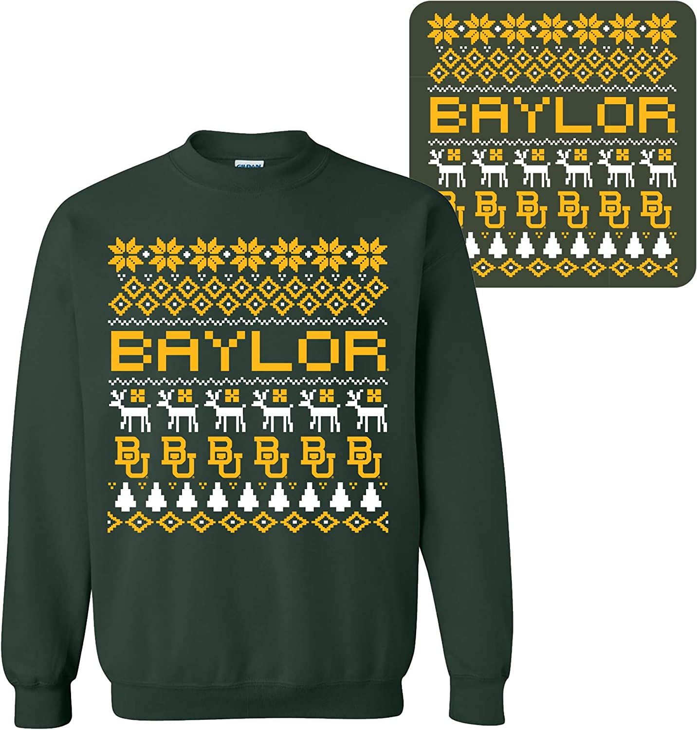NCAA 超定番 Holiday Ugly Sweater Team College SEAL限定商品 Color Univers Crewneck