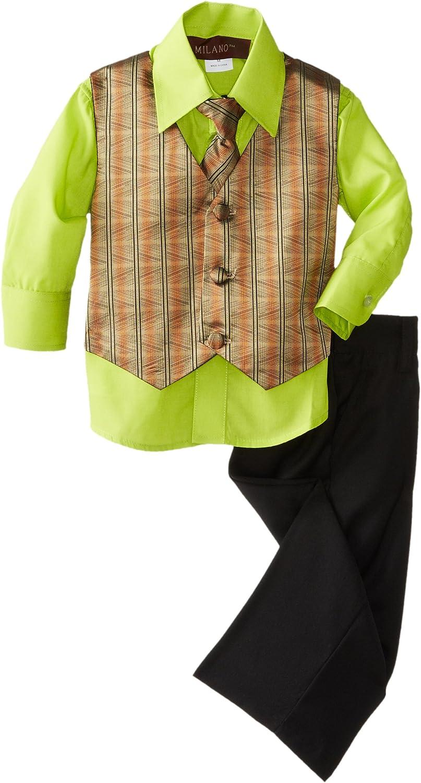 Milano Couture Baby Boys' Shadow Stripe Vest Set
