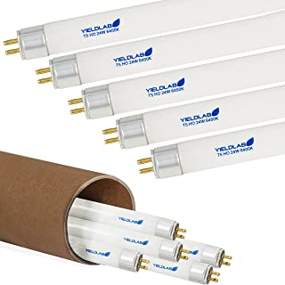 Yield Lab 24w T5 Fluorescent Grow Light Bulbs (6400k) – Hydroponic, Aeroponic, Horticulture Growing Equipment